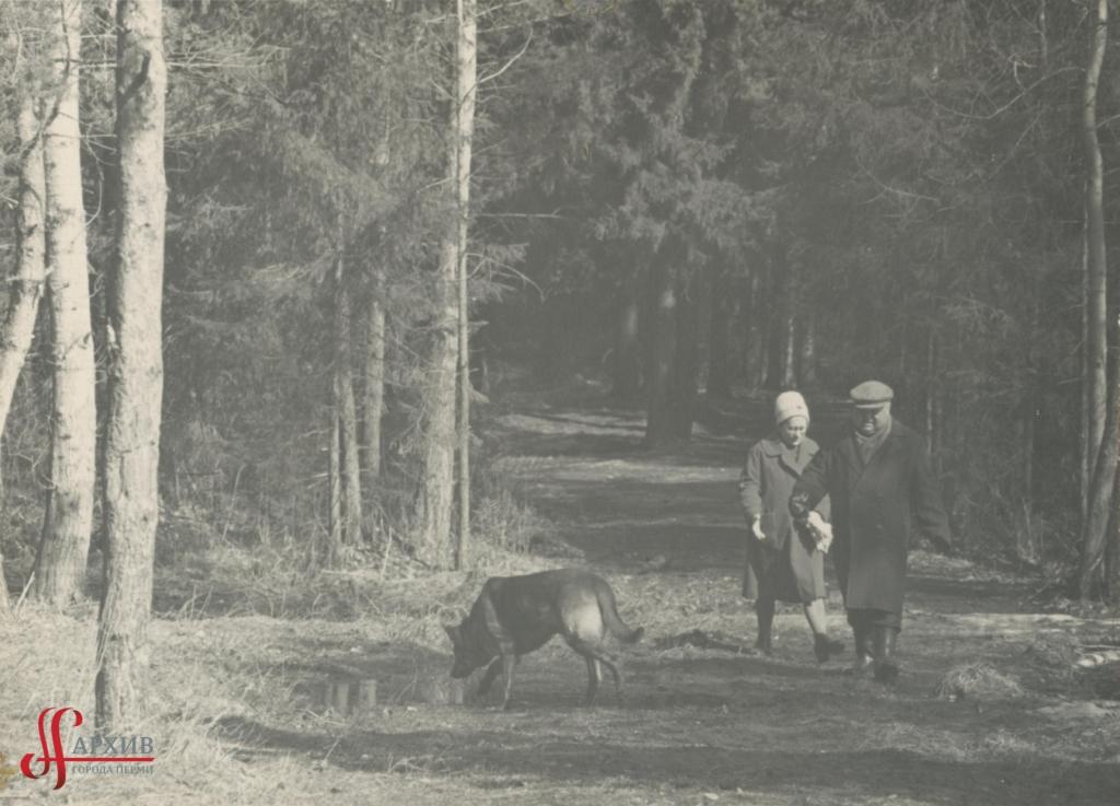 Прогулка в тенистых аллеях Балатовского парка. 9 апреля 1967.