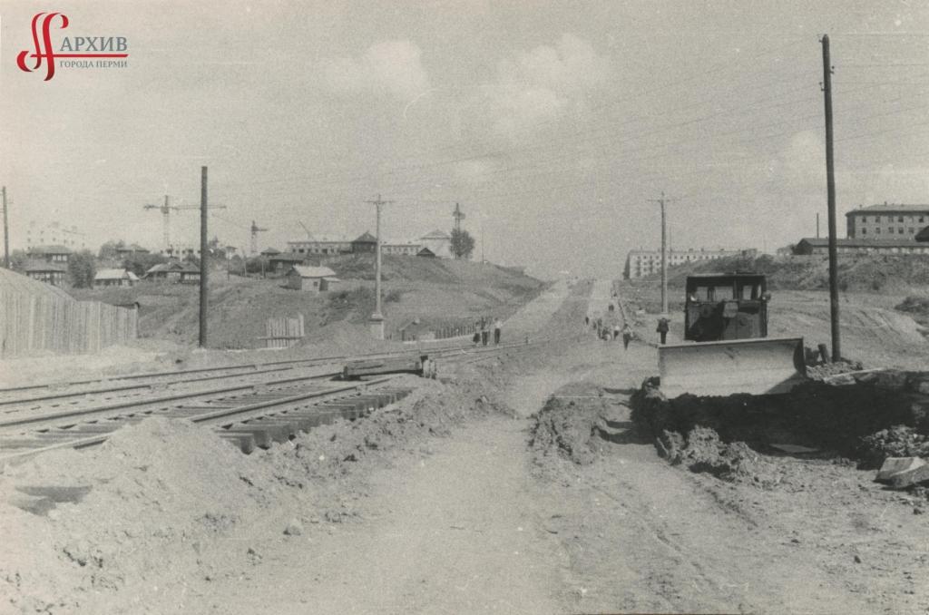 Земельные работы. Начало строительства Северной дамбы. Сентябрь 1959.