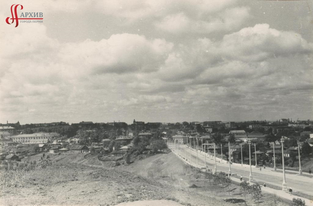 Панорама Разгуляя. Северная дамба.  2 августа 1961.