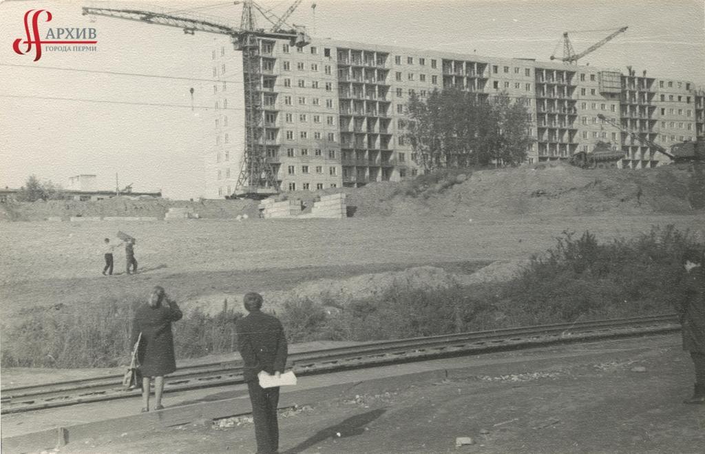 Застройка ул. Коммунистической 9-этажными домами. 17 сентября 1971.