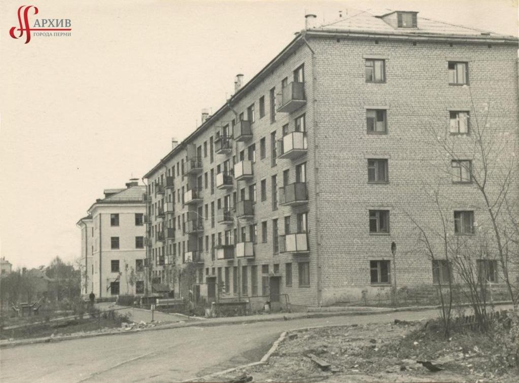 5-этажные дома по ул. Краснофлотской. 14 октября 1967.